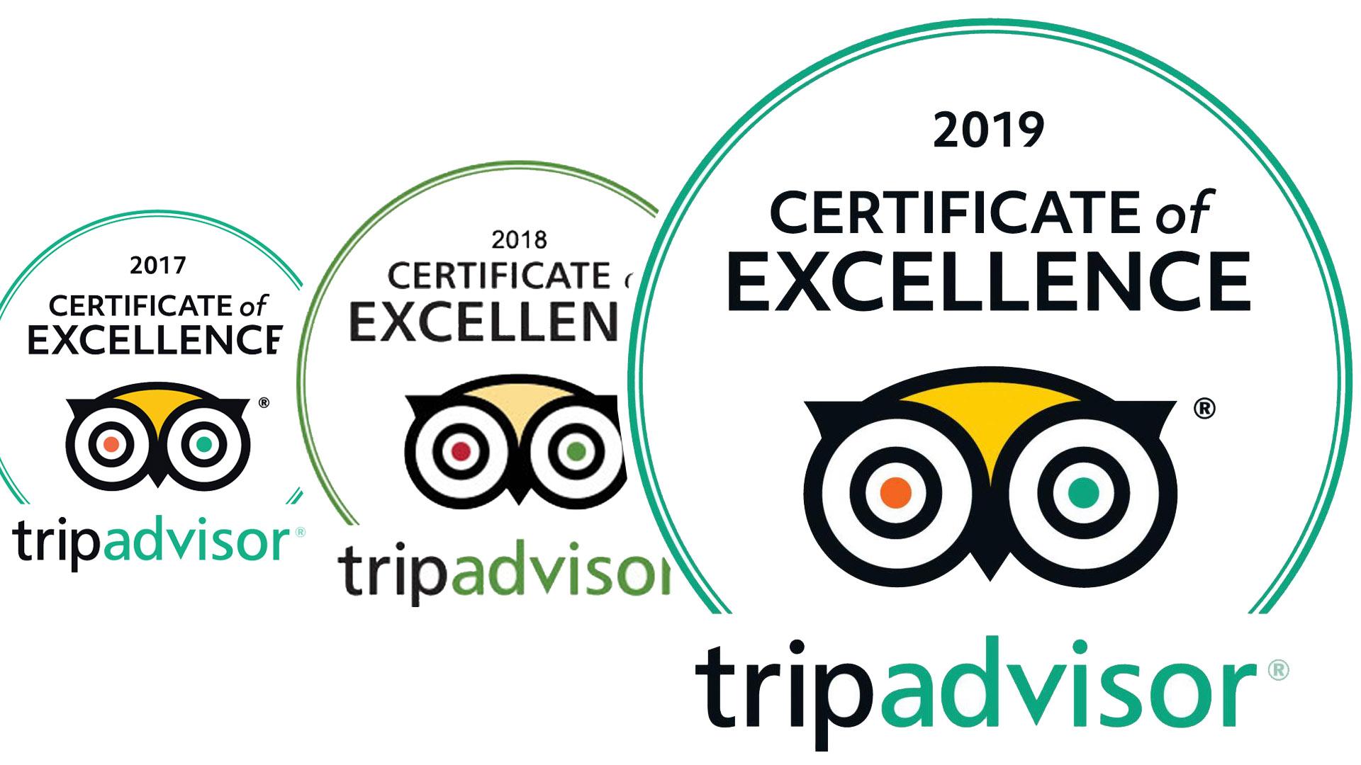 awards from trip advisor